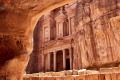Al Khazneh, also known as the Treasury, in the ancient city of Petra, Jordan.