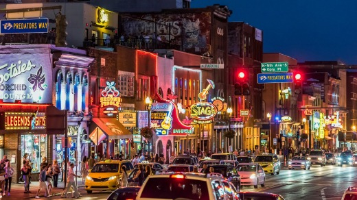 Country music bars on Broadway, Nashville.