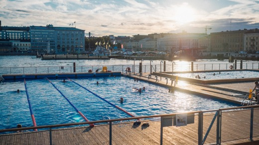 The Allas Sea Pool in the heart of Helsinki.