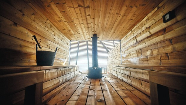 At Loyly, you can take up the challenge of a Nordic plunge: an 80-degree sauna followed by a dip in the three-degree ocean.