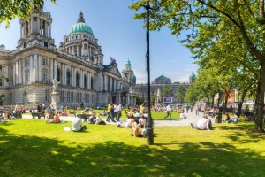 Belfast's elegant City Hall was once a prime bombers' target.