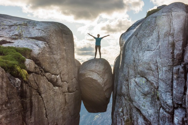 It looks as if a Norwegian troll has lifted a boulder and in a fit of pique hurled it 1000 metres skywards. ...