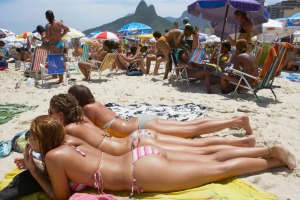 Brazilian beachgoers have a liking for microscopic swimwear.