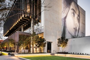 The Westin Hotel, Perth, features a mural by street artist Rone.