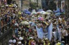 "Revellers perform during the ""Ceu na Terra"" or Heaven on Earth street party in Rio de Janeiro, Brazil. Much of the ..."