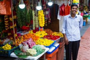 A market stall in Little India.