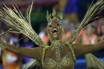 RIO CARNIVAL 2019 PHOTOS: A performer from the Viradouro samba school parades during Carnival celebrations at the ...