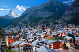 Standing almost anywhere in the town of Zermatt affords a glimpse of the Matterhorn peak.