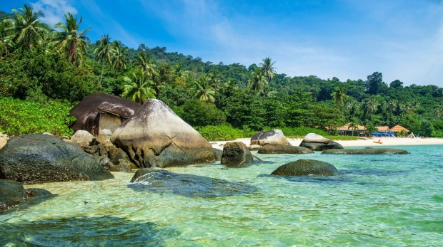 Clear waters, white-sand beaches and jungle-clad hills: Ko Tarutao Marine National Park.