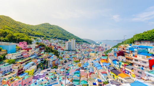 Gamcheon Culture Village. Despite the formal-sounding name, this place is a riot of colour and art.