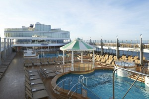 The pool deck  on Norwegian Jewel.