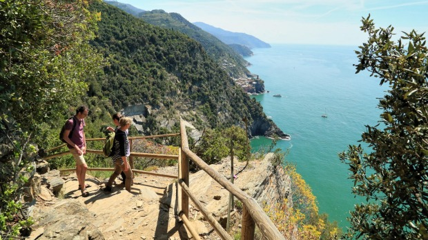 One of the hikes that links the five coastal towns along the Cinque Terre.