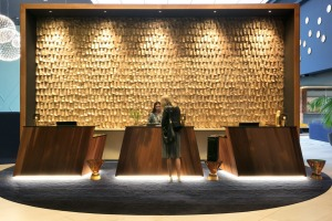 The design of Naumi Auckland Airport Hotel draws inspiration from the flight of a native New Zealand bird.