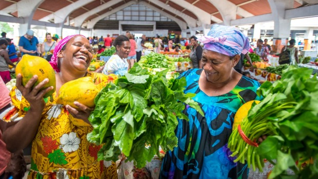 Ni-Vanuatu women at Port Vila Markets.