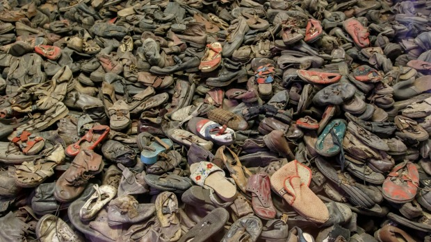 Shoes  of Holocaust victims at Auschwitz-Birkenau.