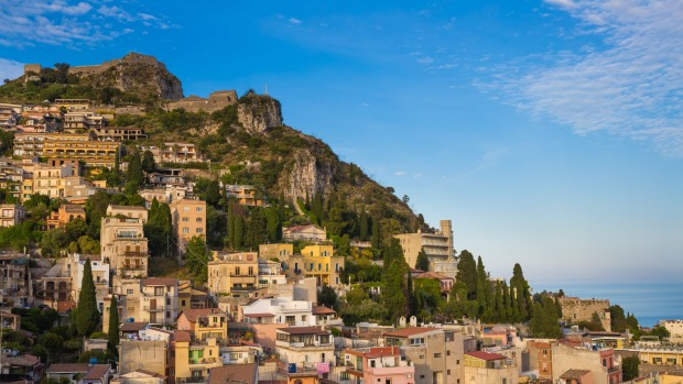 The picturesque town of Taormina.