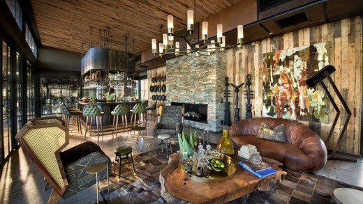 The lodge offers a clever mix of the classic and contemporary.