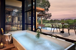 Each villa has  its own deck, outdoor shower and pool.