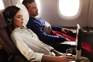 Qantas A380 premium economy: plenty of space and great service.