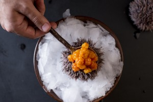 Exotic dishes including sea urchin now feature in top Russian restaurants including White Rabbit in Moscow.