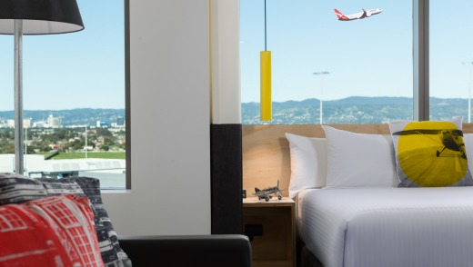A room with a runway view at Atura Adelaide Airport.