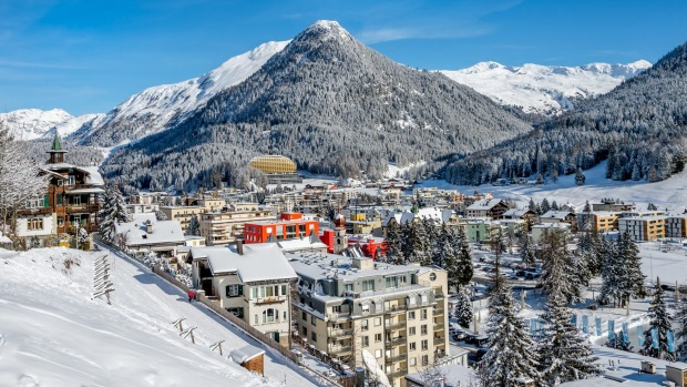 Winter resort: Davos, Switzerland.