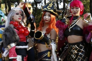 Koreans take gaming seriously, with fans dressing up for the major contests.