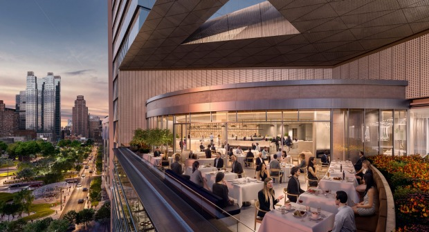 A restaurant at Hudson Yards.