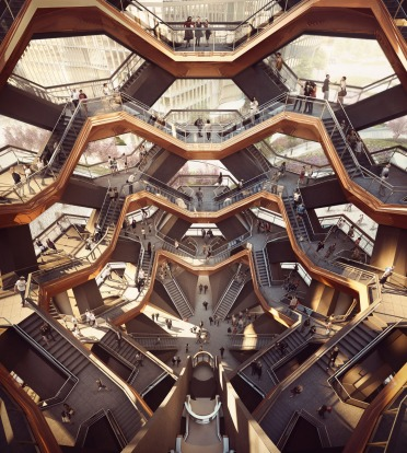 Inside the Vessel at Hudson Yards.
