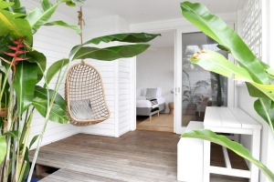 Each of the guest rooms has its own verandah.
