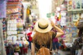 *** reuse permitted *** satmar23cruiseCruise Shopping ; text by Brian Johnston ; Shutterstock ;Tourist is visiting ...