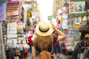 *** reuse permitted *** satmar23cruise Cruise Shopping ; text by Brian Johnston ; Shutterstock ; Tourist is visiting ...