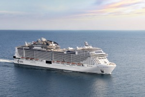 The 5700-passenger, $US1 billion MSC Bellissima.