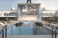 The ship has a whopping 25-metre outdoor pool with special night illuminations.