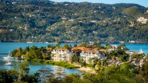 A panoramic view of Montego Bay, Jamaica.