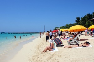 Doctor's Cave Beach Club at Montego Bay has been one of the most famous beaches in Jamaica for nearly a century.