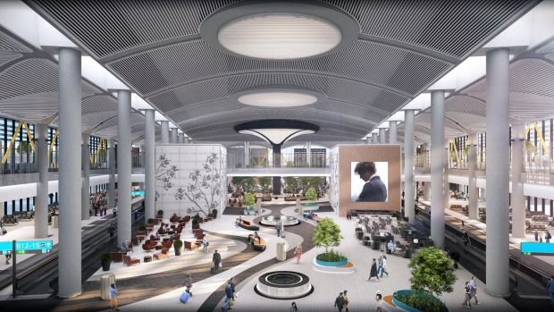 The new Istanbul Airport aims to give passengers a coherent transition from landside to airside.