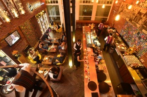 The t-Lounge by Dilmah in Colombo is an inviting space with comfy leather chairs as well as bar seating.