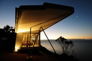 The Winged House, Tasmania: the breeze is brisk, the view is mind-boggling and addictive.