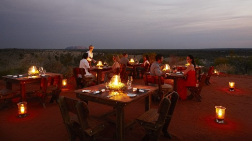 The Tali Wiru experience: A unique dining experience on an isolated dune top overlooking Uluru and the distant domes of ...