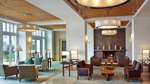 The lobby at the Intercontinental Monterey.