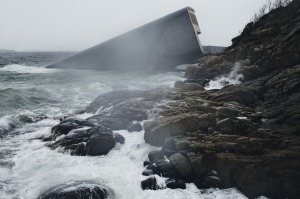Norway's new restaurant is sunken into the sea.