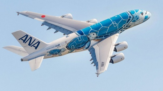 The ANA superjumbo features four classes for a total of 520 passengers.