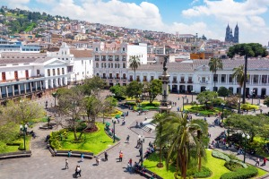 "Plaza de la Independencia, also known as La Plaza Grande, Quito's ""living room"" is a great place to people-watch."
