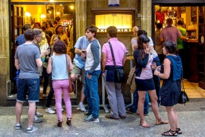 All ages are welcome at San Sebastian's bars.