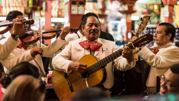 Where's the party? Mariachi bands can be hired to come along to a restaurant or bar.