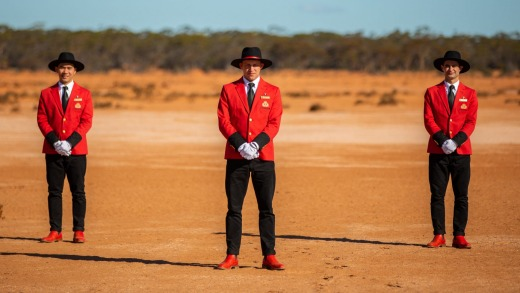 The bellboys' new uniforms have an Australian flavour.