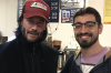Keanu Reeves with passenger Amir Blum.