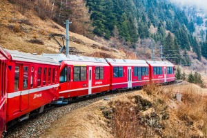 European train travel often comes with spectacular scenery, as with the Bernina Express, travelling from Lugano to St ...