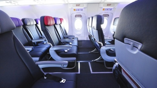 Emergency exit row seats in Economy X offer more legroom.